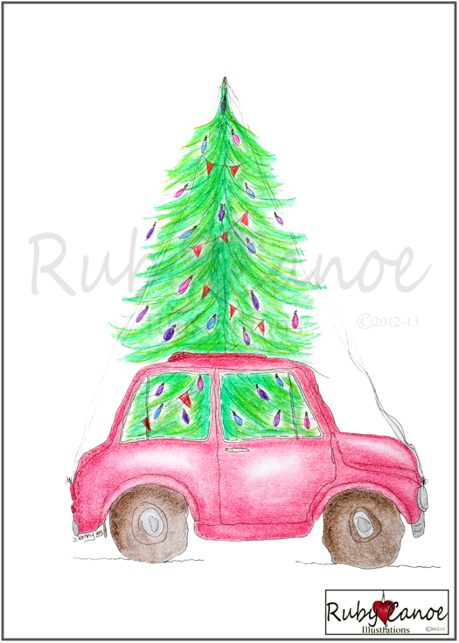 Available from Ruby Canoe Designs on Etsy Unframed Print