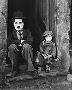 Chaplin and Coogan.  The Kid.  1921.