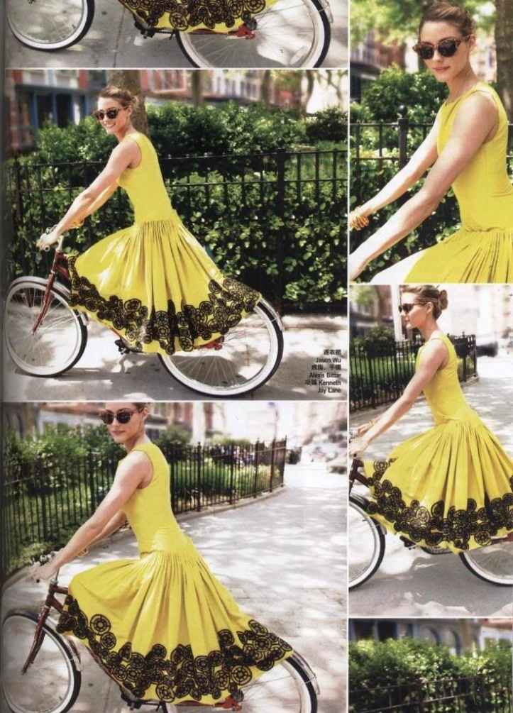 Yellow and black dress.  I don't know who to credit this beautiful dress to :( sad face.