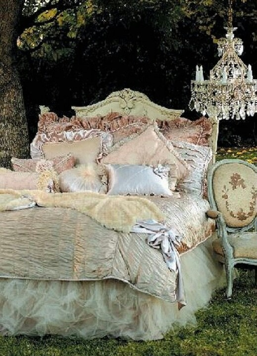 This would be a fancy bed skirt...OMG! Tulle!!! I suppose you could DIY this as well! Coolio!! Love!!!