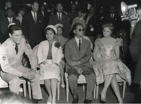 King and Queen of Thailand visiting the set.