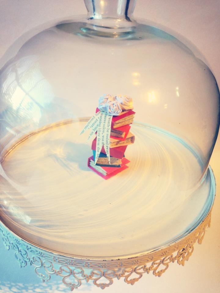 Etsy listing Ruby Canoe Design $25 Stack of Books Cake Topper Wedding/Graduation/Birthday